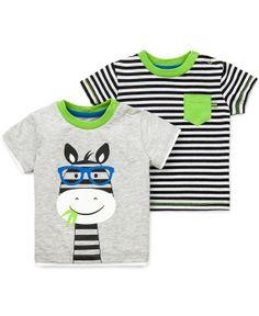 Little Me Baby Boys' 2-Pack Zebra Striped Tees - Kids Baby Boy (0-24 months) - Macy's