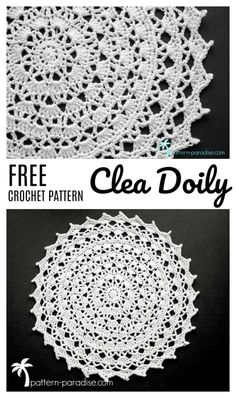 Free Crochet Pattern & Yarn Review - Clea Doily | Pattern Paradise