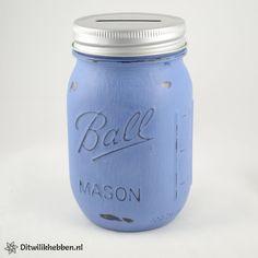 Ball Mason Jar Spaarpot | Kleur Lotte