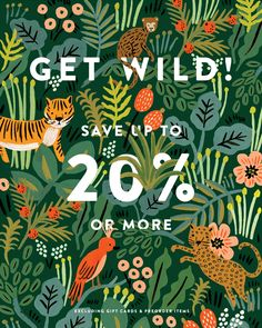 Stationery Design | Email Marketing | Gif | Rifle Paper Co. | Jungle | Animals