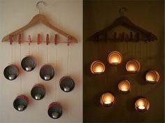 Romántica lampara para ocasiones especiales, con el toque de los materiales de desecho