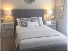 Gray and White Color Scheme Bedroom
