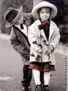 Lovely baby couple
