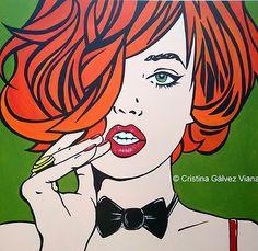 #POP #ART - #comic #girl Obras de #CristinaGálvezViana