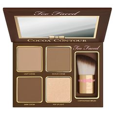 The right contour palette is essential to achieve a sculpted look. Find contouring makeup kits, including highlighter and brush, from Too Faced and create a chiseled look. Too Faced Make Up Palette, Peach Palette, Contour Kit, Contour Palette, Eye Palette, Paleta Too Faced, Makeup Goals, Makeup Tips, Makeup Ideas