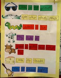 Reading Strategies--- Ideas for a chart in my room for the kiddos to refer to.  Neat idea.