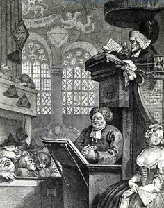 William Hogarth:The Sleeping Congregation