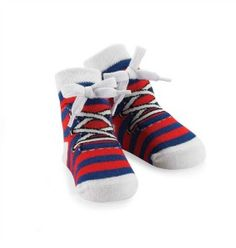 Blue and Red Sneaker Socks