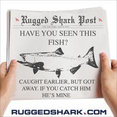 Happy #FishFriday from The #SharkLab Missing Fish! Hope everyone enjoys their weekend!! #fishing #ruggedshark