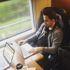 zpr Train-Office im ICE auf dem Weg zum Shopware Community Day 2016 mit unserem Head of Development @iboargun // Train-Office at ICE on the way to the Shopware Community Day 2016 with our Head of Development @iboargun #scd16 @shopware #workandtravel #business #webdevelopment #online #coding #code #webdev #digitallife #workworkwork #onlinebusiness #ecommerce #php #frontend #templating #javascript #jquery