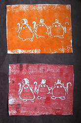 Preschool Activities: Etching Art  Have child carve with a pencil into washed styrofoam meat trays, roll with rollers and print onto paper:)