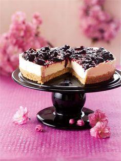 Receitas Nigella: Cheesecake com calda de cereja
