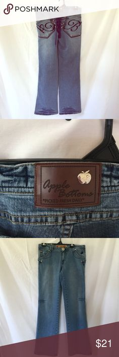 Apple bottom red label blue jeans nwot size 10 | Fur, Apples and Boots