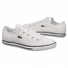 81003fc05 Lacoste Women s L27 Sneaker Shoes (white Canvas) Lacoste Shoes Women
