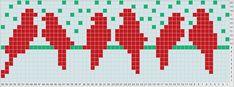 Posts about free cross stitch chart written by Polly Fair Isle Knitting Patterns, Bead Loom Patterns, Knitting Charts, Knitting Stitches, Cross Stitch Bird, Cross Stitch Animals, Cross Stitch Embroidery, Crochet Motifs, Crochet Chart