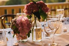 Rustic Table Flowers / Deandra & Adam's Intimate Hinterland Wedding / LANE (Todd Hunter McGaw Photography)
