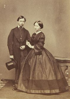 Edward Prince of Wales and his sister Princess Alice, Grand Duchess of Hesse - May 1860