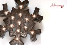 """Midwestern Girl: my """"metal"""" snowflake...Christmas Marquee Love..."""