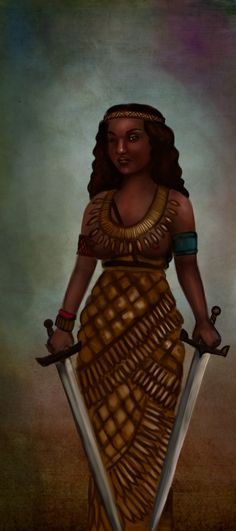 Amanirenas - a Kandake (warrior queen) of kush, Ameniras challenged the Romans who took over Egypt after the death of Cleopatra VII. She reigned from about 40 BCE to 10 BCE. She is one of the most famous kandakes, because of her role leading Kushite armies against the Romans from in a war that lasted five years, from 27 BCE to 22 BCE.  She succeeded in negotiating a peace treaty on favourable terms. Amanirenas was described as brave, and blind in one eye.