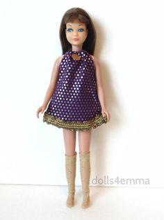 Vintage Skipper Doll Clothes Dress & Socks Handmade Fashion NO DOLL d4e
