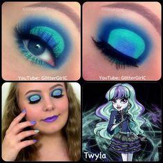 Monster High Twyla makeup. Youtube channel: full.sc/SK3bIA