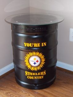 Pittsburg Steelers End Table (photo only) Steelers Gear, Here We Go Steelers, Pittsburgh Steelers Logo, Pittsburgh Sports, Steelers Football, Steelers Stuff, Sport Craft, Steeler Nation, Man Cave