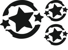 Flockmotiv/Bügelbild/Velour-Motiv+Grunge-Star+3er+von+Sweet-DirAction+auf+DaWanda.com