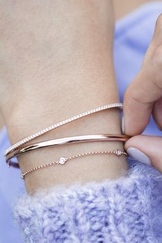 Find your perfect rose gold bracelet stack from Shane Co.