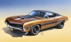 Classic Car News Pics And Videos From Around The World 1970 Ford Mustang, Ford Gt, Us Cars, Sport Cars, Grand Torino, Ford Torino, Ford Classic Cars, Ford Fairlane, Car Engine