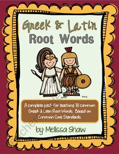 Greek and Latin Root Words Complete Pack product from Classroom Creations on TeachersNotebook.com