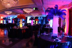 Is purple lighting something your party planner can help you with?