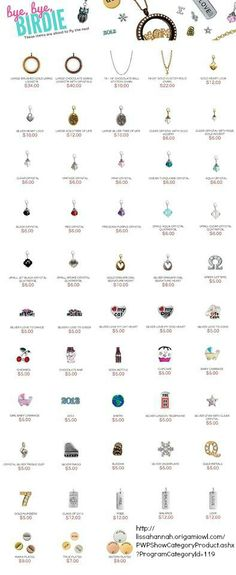 Origami Owl winter 2014 - soon to be retired jewelry products. Are any of your favorites on this list...? Shop online NOW and get them before they are all gone!!! http://lissahannah.origamiowl.com/PWPShowCategoryProduct.ashx?ProgramCategoryId=119