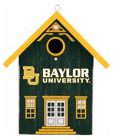 Baylor-themed bird house // Make the birds in your neighborhood Baylor fans. #SicEm