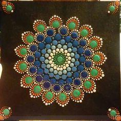Inspired Mandala....Orange & Green By Nina Italy