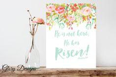 Bible Verse Scripture Printable Easter printable by glorydesigns