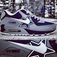 low priced dc3f1 60b8e ... nike shox deliver by elevatedapparelplus  custom dallas cowboys airmaxx  by elevatedapparelplus on etsy taking orders ...