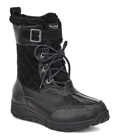 Koolaburra by UGG® Black Imree Boot - Women   Best Price and Reviews   Zulily Tall Lace Up Boots, Black Boots, Shoes Heels Boots, Heeled Boots, Ugg Snow Boots, Snow Fashion, Male Fashion, Cold Weather Boots, Sneakers Fashion