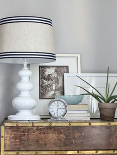 DIY Lamp Revamp - bedside table