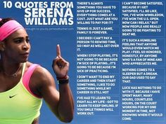 10 Ways I Learn From Serena Williams - James Altucher Best Advice Quotes, Good Advice, Serena Williams Quotes, James Altucher, Steffi Graf, How To Play Tennis, Tennis Workout, Williams James, Life Learning