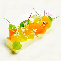 White Chocolate Yogurt Cremeux, Compressed Melons, Olive Oil Moss