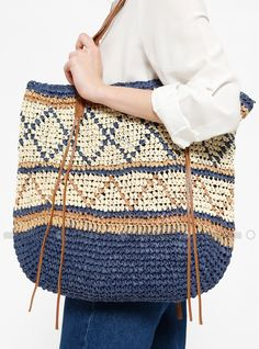 Easy Knitting, Bag Making, Bucket Bag, Sewing Patterns, Tapestry, Stitch, Purses, Fabric, Fashion