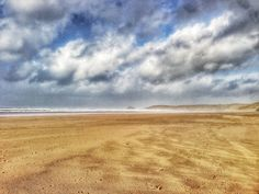 Miles of sandy beach - Perranporth 2014