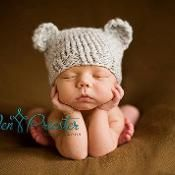 Newborn Baby-Bear Hat - via @Craftsy
