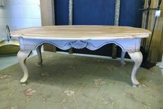 Chalk painted and glazed coffee table