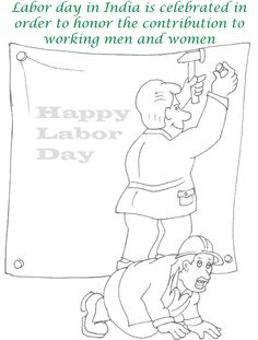 retro labor day illustration 262885 - here is an awesome retro ... - Labor Day Coloring Pages Kids