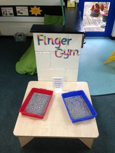 Early years reception class finger gym