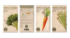 roots 'n' fruits seed packaging design