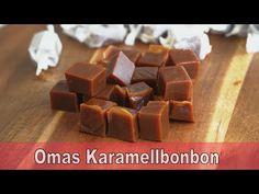 """Grandma's caramel sweet Recipe """" Bonbons """" heavy cream """" - YouTube Caramel Bonbons, Bonbon Caramel, Caramel Candy, Biscuit Pudding, Biscuit Recipe, Bottle Gourd Recipe, Sweet Recipes, Cake Recipes, Honey Candy"""