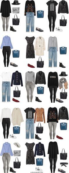 Plus Size Capsule Wardrobe Outfit Options 1-15 via livelovesara #plussize #capsulewardrobe #plussizecapsulewardrobe