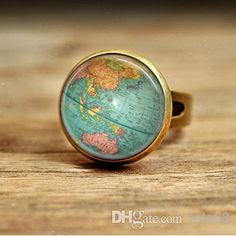 Gift for her map watch travel gift gift for women world map free shipping 452piecebuy wholesale rc45 vintage globe ring planet earth gumiabroncs Image collections